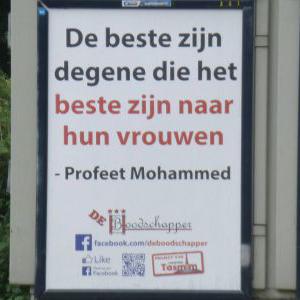 Hollanda'da Hadis Afişleri